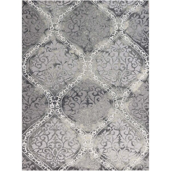 Pavilion Silk Hand-Tufted Gray Area Rug by Charlton Home