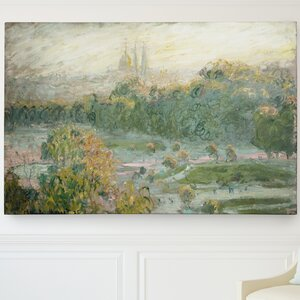 'Tuileries Study' by Claude Monet Painting Print on Wrapped Canvas by Wexford Home