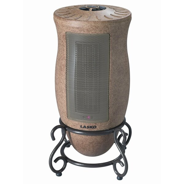 Ceramic 1,500 Watt Portable Electric Heater with Adjustable Thermostat by Lasko