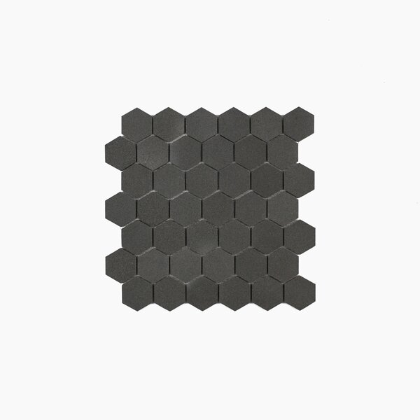 Cooper 11.75 x 11.94 Basalt Mosaic Tile in Dark Gray/Neutral Gray by Maykke