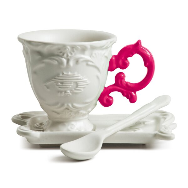 I-Wares Porcelain Coffee Cup & Saucer Set by Seletti