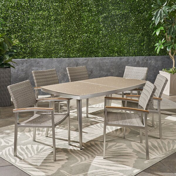 Bonifacio Outdoor 7 Piece Dining Set by Ivy Bronx