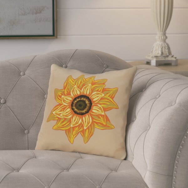 Floral Outdoor Throw Pillow by August Grove