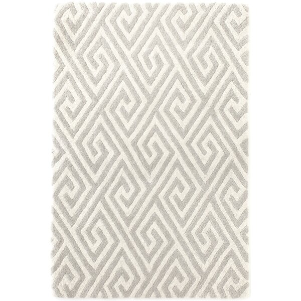 Fretwork Tufted Grey Area Rug by Dash and Albert Rugs