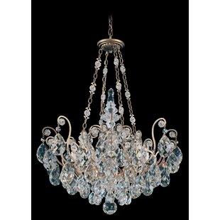 Oval crystal chandelier wayfair renaissance 8 light crystal chandelier mozeypictures Images