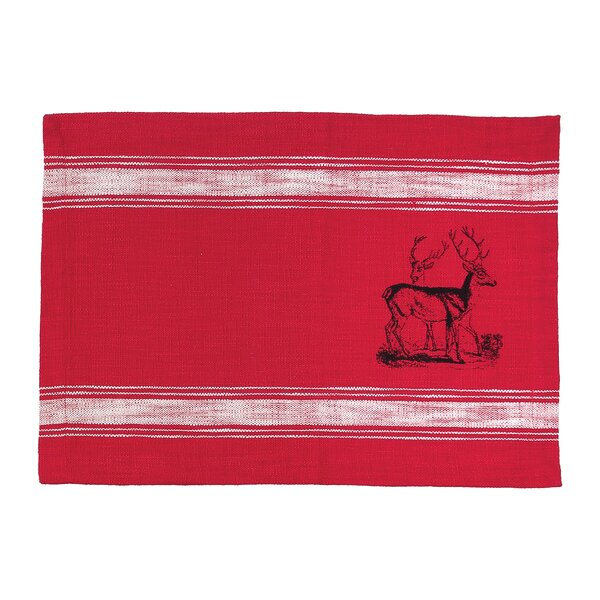 Stag Feed Sack 19 Placemat (Set of 6) by C&F Home
