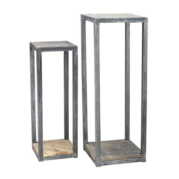 Rectangular 2 Piece Plant Stand Set by BIDKhome