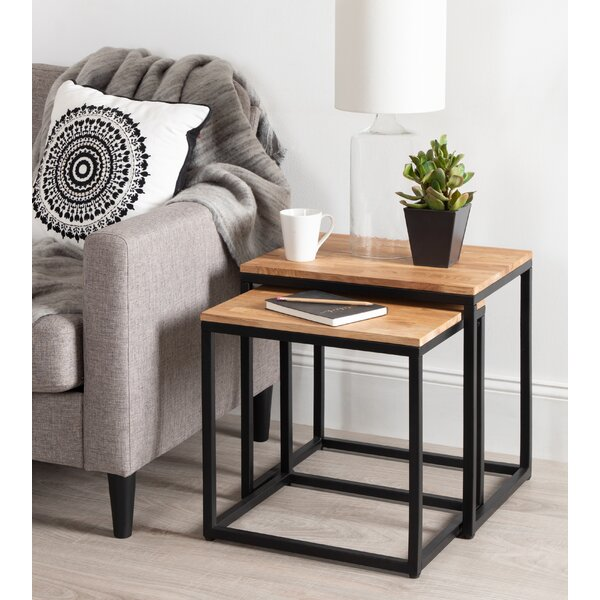 Home & Garden Teena 2 Piece Nesting Tables (Set Of 2)