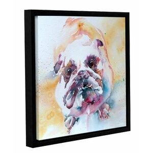 Bulldog Framed Painting Print by Latitude Run