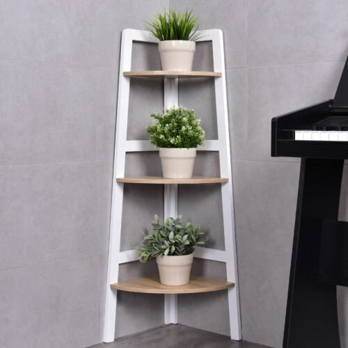 Butler 3-Tier Wood Ladder Wall Display Corner Unit by Wrought Studio