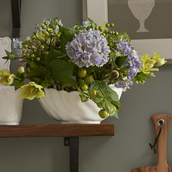 Hydrangea Centerpiece in Bowl by Three Posts