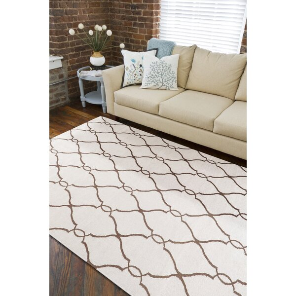 Toups Hand-Woven Ivory Area Rug by Darby Home Co