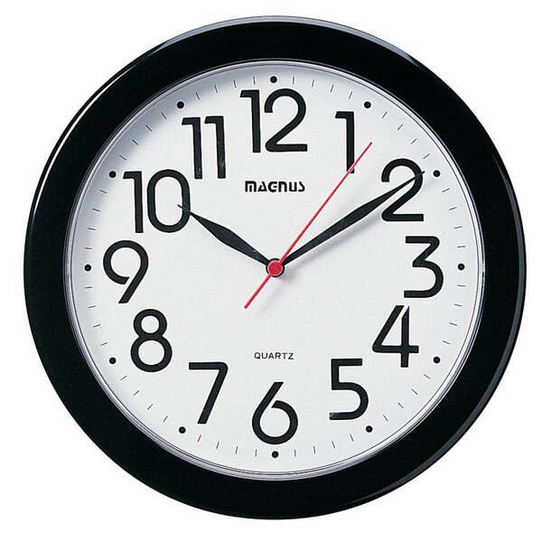 Alyce 10 Round Plastic Wall Clock by Red Barrel Studio