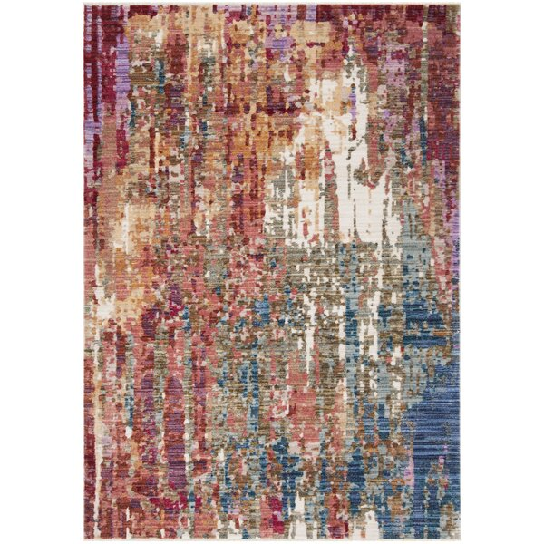 Marable Red/blue Area Rug By Bloomsbury Market.