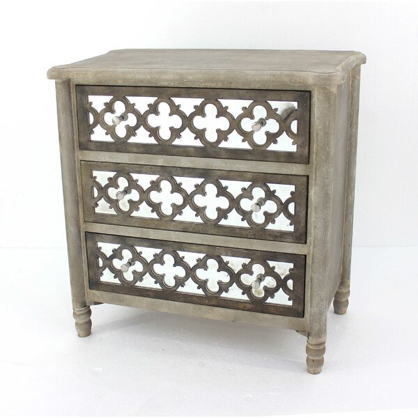 Carollo Wooden 3 Drawer Accent Chest By House Of Hampton