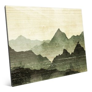 'Mountain Horizon Olive' Painting Print by Click Wall Art
