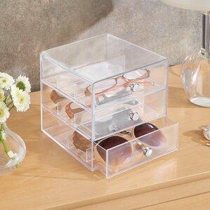 Clarity Eyeglass Sunglasses Cosmetic Organizer by InterDesign