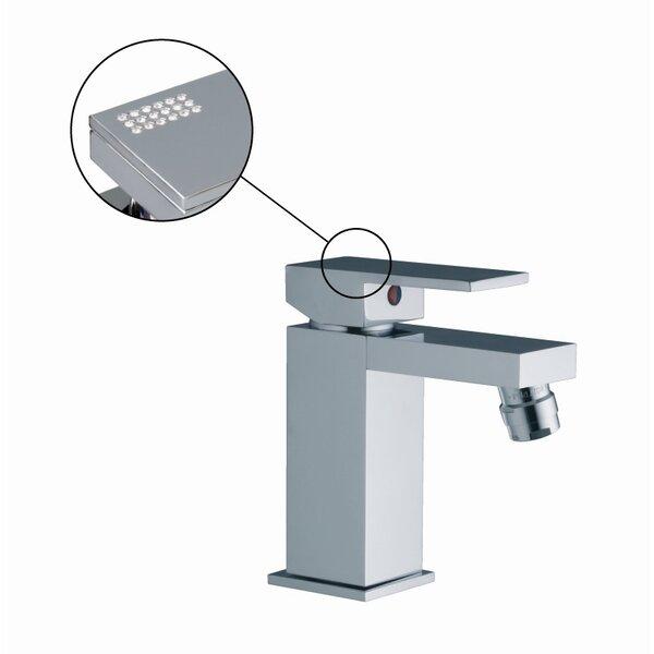 Brick Single Handle Horizontal Spray Bidet Faucet with Swarovski Crystals by Fima by Nameeks