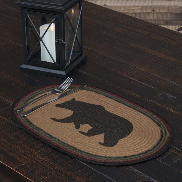Dubay Bear Oval Jute Placemat (Set of 6) by Loon Peak