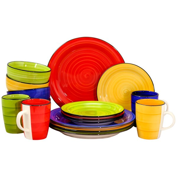 Robinson Round 16 Piece Dinnerware Set, Service for 4 by World Menagerie
