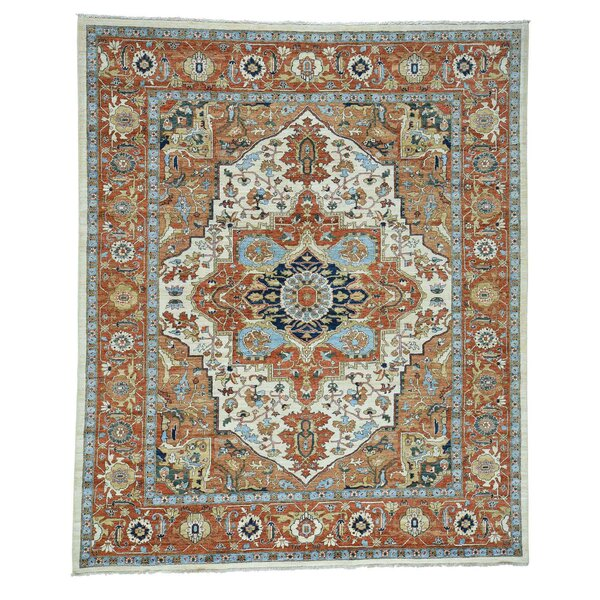 One-of-a-Kind Le Sirenuse Bidjar Hand-Knotted Ivory Area Rug by Canora Grey