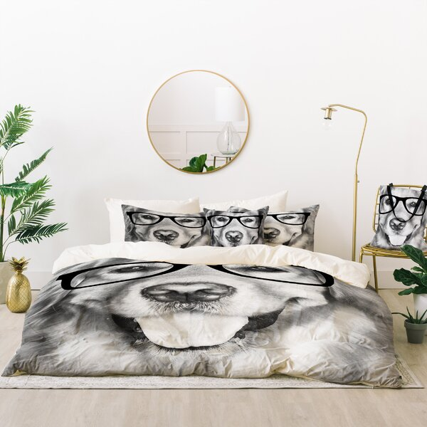 Allyson Johnson Hippest Dog Duvet Cover Set