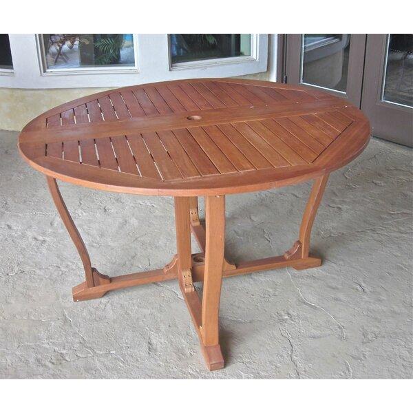 Church Street Outdoor Gate Leg Wood Bar Table by Breakwater Bay