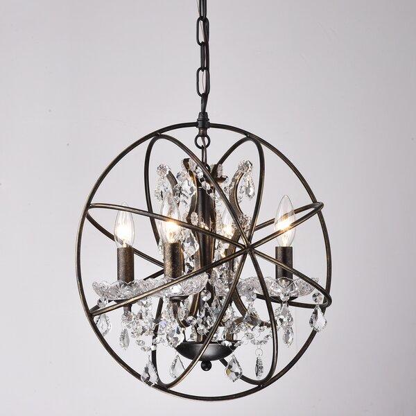Carlo 4 - Light Unique / Statement Globe Chandelier By Willa Arlo Interiors