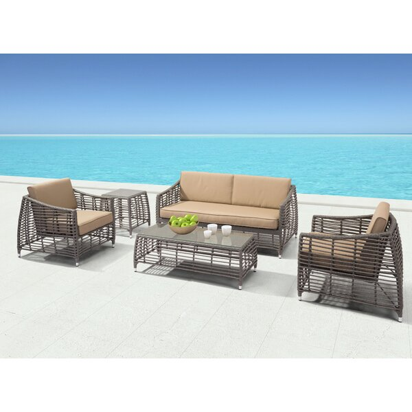 Arietta Deep Seating Group with Cushions by Brayden Studio