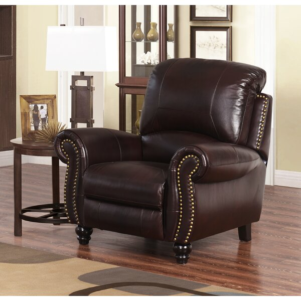 Kahle Leather Manual Recliner by Darby Home Co