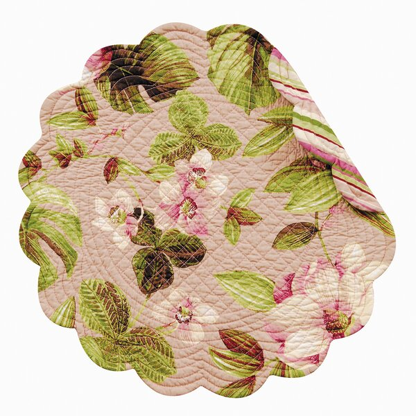 Platres Reversible Round Quilt Placemat (Set of 6) by Beachcrest Home