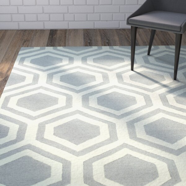 Meredith Hand-Tufted Grey Area Rug by Ivy Bronx