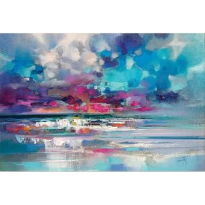 'Atlantic Magenta' Print on Canvas by East Urban Home