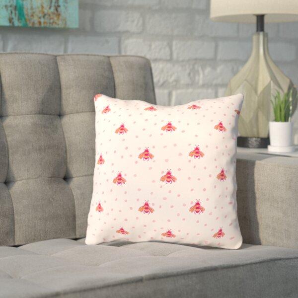 Spillman Onefeinday Bumblebeez Throw Pillow by Wrought Studio