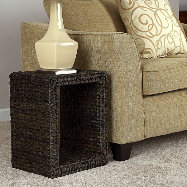 Mignon Wicker Side Table by Bay Isle Home