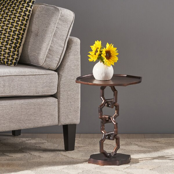 Kylie Modern Aluminum Accent Table By World Menagerie