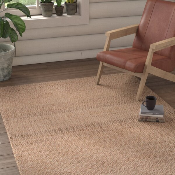 Gideon Beige/Brown Geometric Area Rug by Union Rustic
