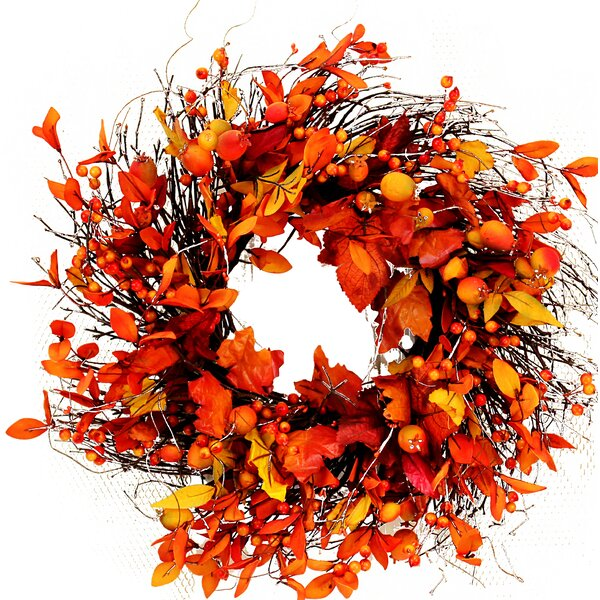 Fall 19 Leaves and Berries Wreath by The Holiday Aisle