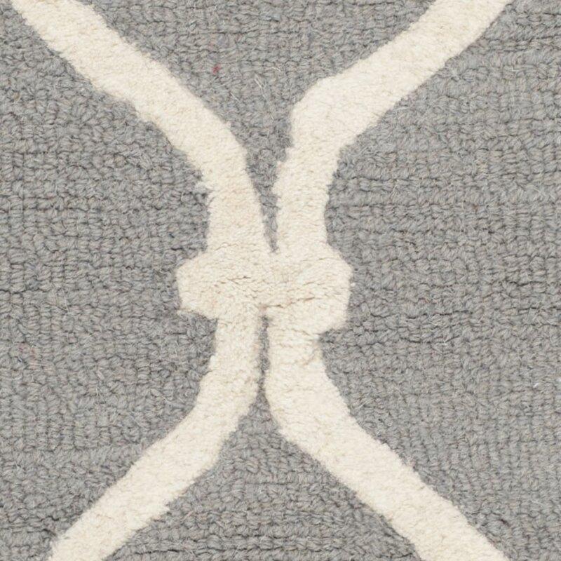 maison alouette handgetufteter teppich deslauriers in dunkelgrau bewertungen. Black Bedroom Furniture Sets. Home Design Ideas