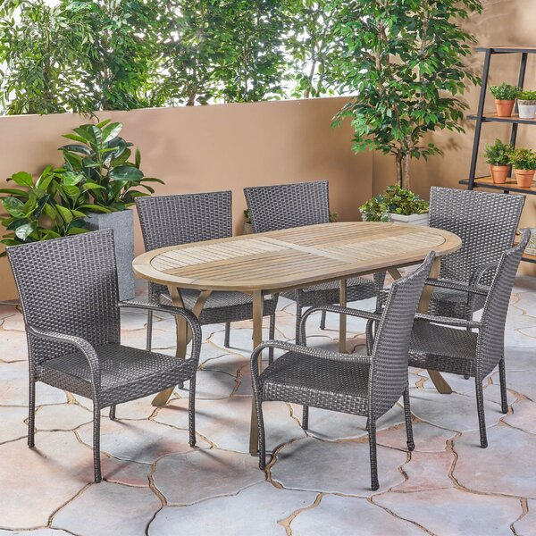 Lafrance Outdoor 7 Piece Dining Set by Gracie Oaks