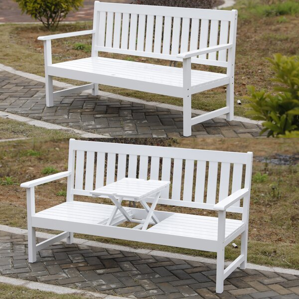 Samuel Outdoor Wooden Park Bench by Rosecliff Heights Rosecliff Heights