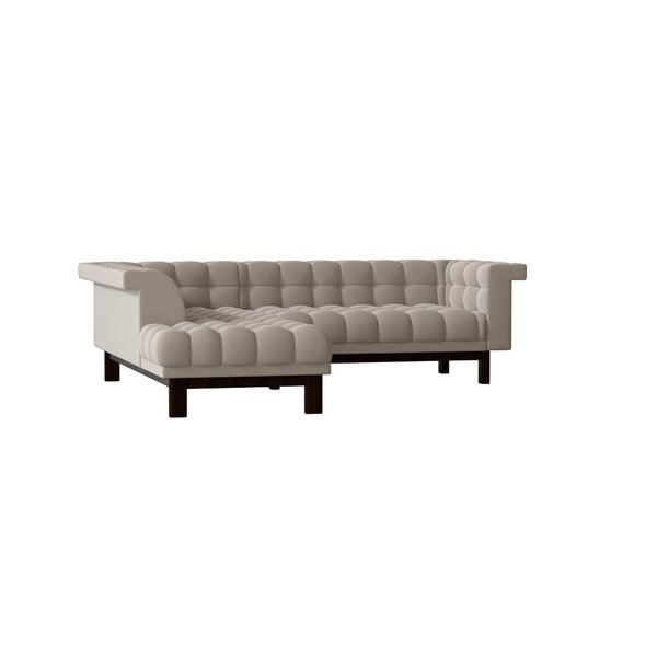 George Corner Sectional Sofa With Bumper By TrueModern