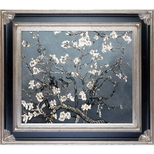 Branches of an Almond Tree in Blossom by Vincent Van Gogh Framed Painting Print by Tori Home