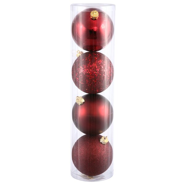 4 Piece Ball Assorted OrnamentSet by The Holiday Aisle