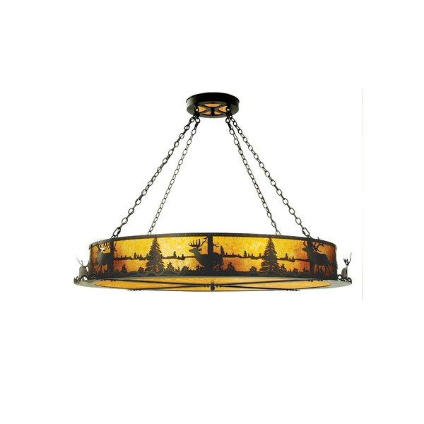 Himes 12 - Light Unique / Statement Drum Chandelier By Millwood Pines