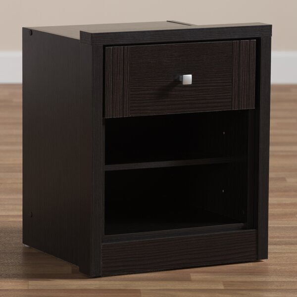 Hiawassee 1 Drawer Nightstand by Ebern Designs