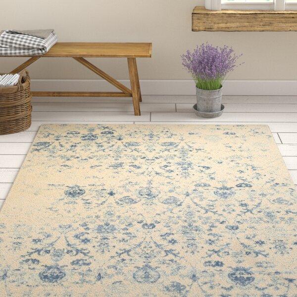 Shailene Blue/Cream Area Rug by Ophelia & Co.