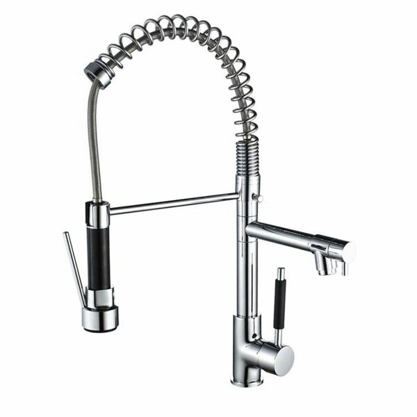 Pull Down Double Handle Kitchen Faucet