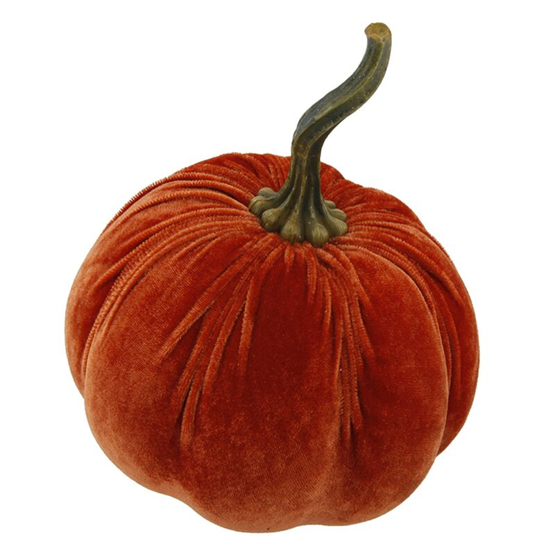 Hard Velvet Pumpkin Decorative Accent