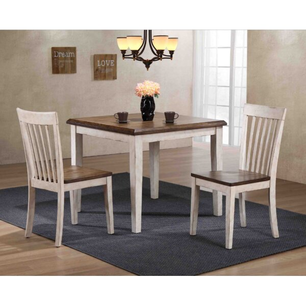Culbertson 3 Piece Solid Wood Dining Set by Ophelia & Co.